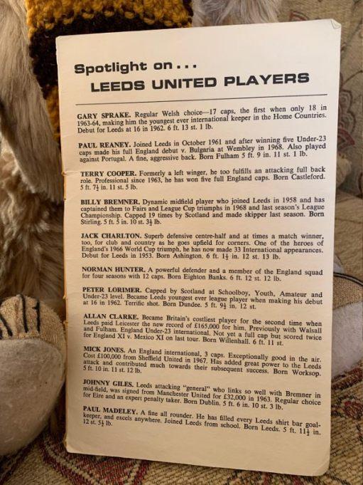 Spotlight on Leeds United Players.