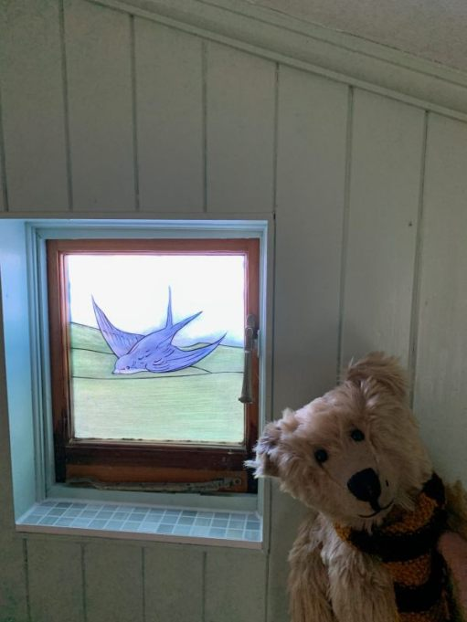 "Bertie and the ""Bluebird Window""."