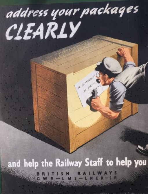 """Address your packages clearly and help railway staff to help you."""