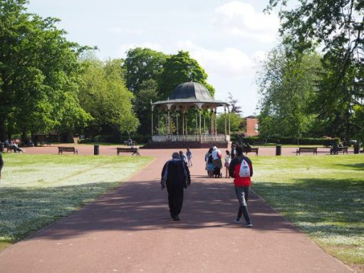 Looking along one of the paths to the bandstand.