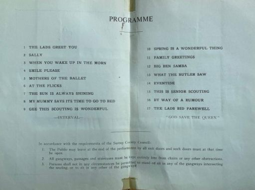 The programme.