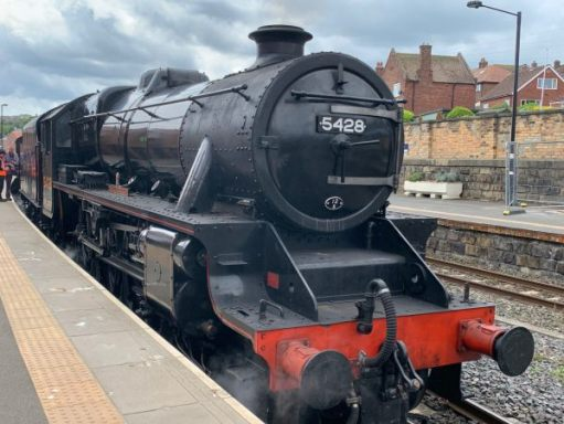 Black Five 5428 Eric Treacy in Whitby Station.