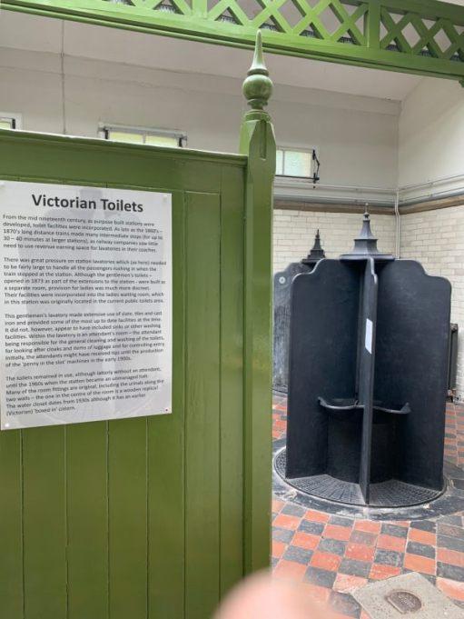 Old Victorian urinals.