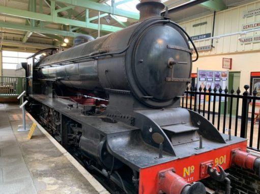 Engine No 901 in a former platform in Darlington North Road Station.