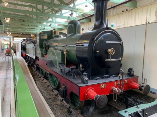 Engine No 1463 in a former platform in Darlington North Road Station.