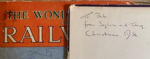 From Tony and Sylvia. Christmas 1954.