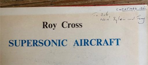 Books on planes really excited me. From Tony and Sylvia, Christmas 1955.