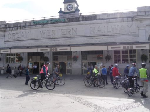 October 2009. Sustrans convention, Cardiff Central Station.