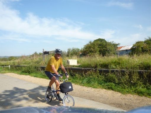 September 2011. NCN Route 23. Newport to Sandown, Isle of Wight. Merstone disused station.