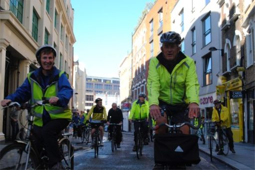 October 2012. Sustrans Rangers ride, Islington.