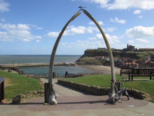 April 2013. Whitby. Whale Bone Arch.