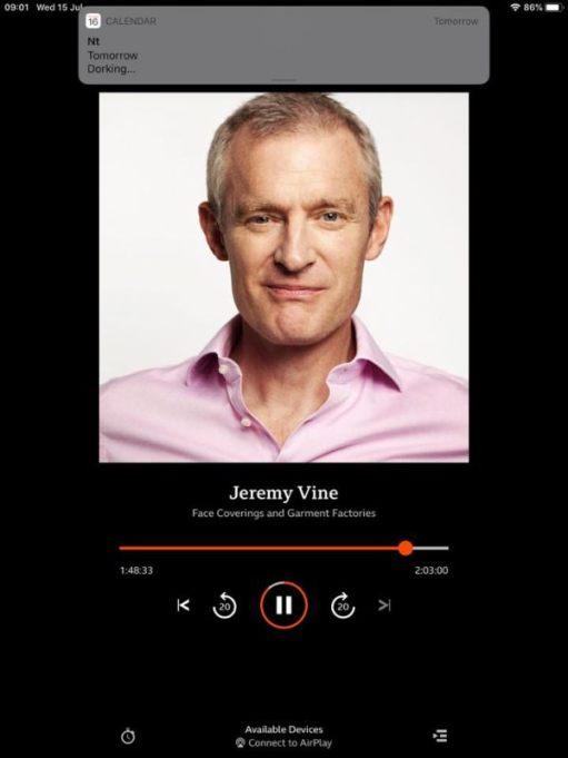 Jeremy Vines on BBC Sounds.