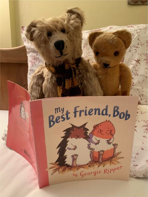 "Sedentary Session: Bertie and Eamonn reading the book ""My Best Friend, Bob""."