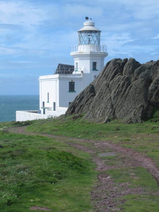 Skokholm Island lighthouse.