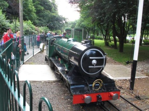 Fake steam engine at Peasholm Park, Scarborough.
