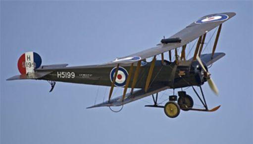 Avro 504 in flight.