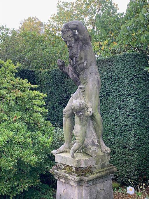 Statue in Dunsborough Gardens.