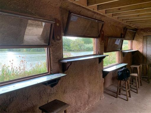 Inside the hide.