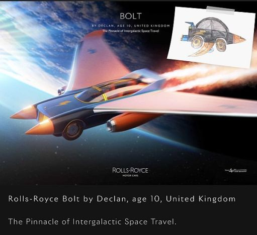 "The Rolls-Royce ""Bolt"" by Declan, age 10, united Kingdom."