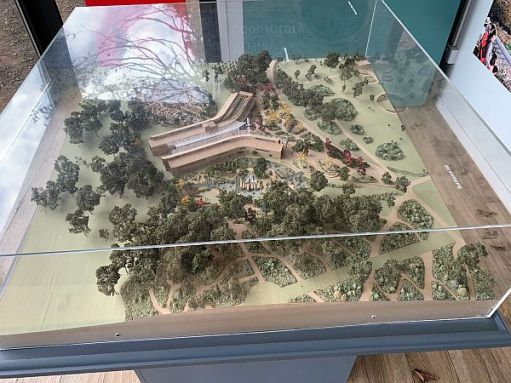Wisley Titbits: New Centre of Well-being - exhibition model.