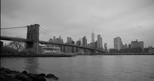 Black and white picture of New York in Autumn