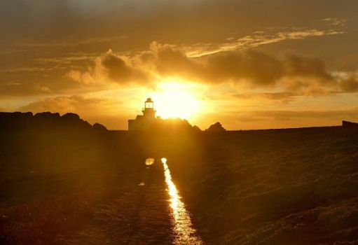 Sunset over the Lighthouse.