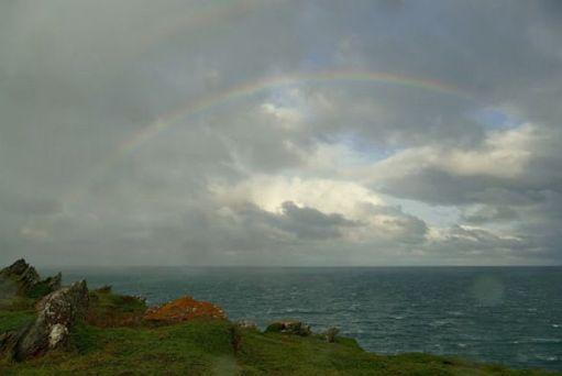 Rainbow over the bay.