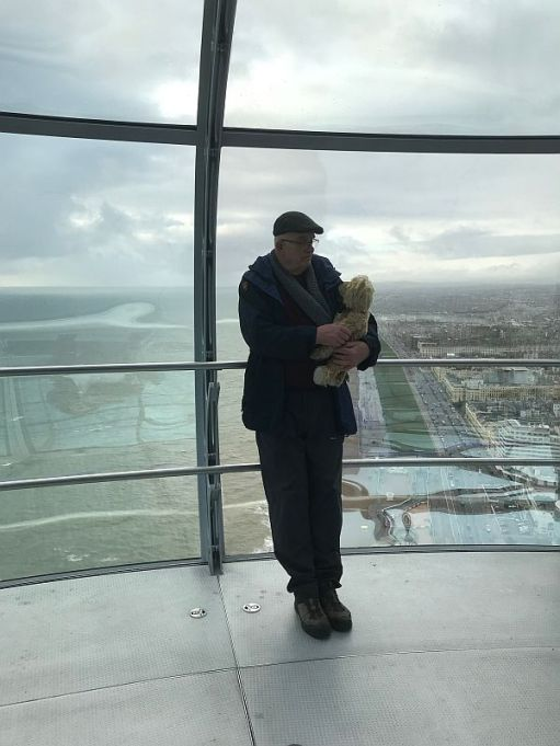 Party Bash - Bobby and Bertie on the i360 in 2019.