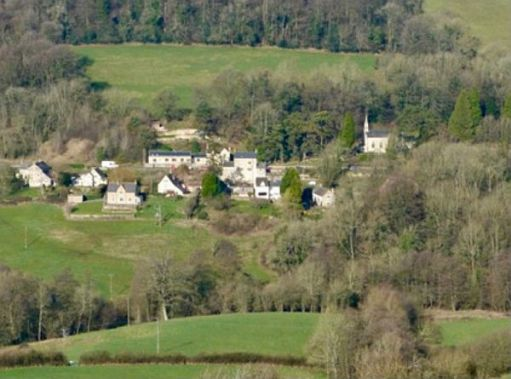 The village of Slad from Swift's Hill.