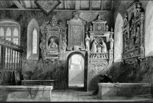 Inside the Evelyn Chapel.