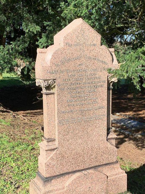 Gravestone of Charles William Glanville Evelyn.