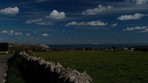 Worth Matravers looking across the Solent.