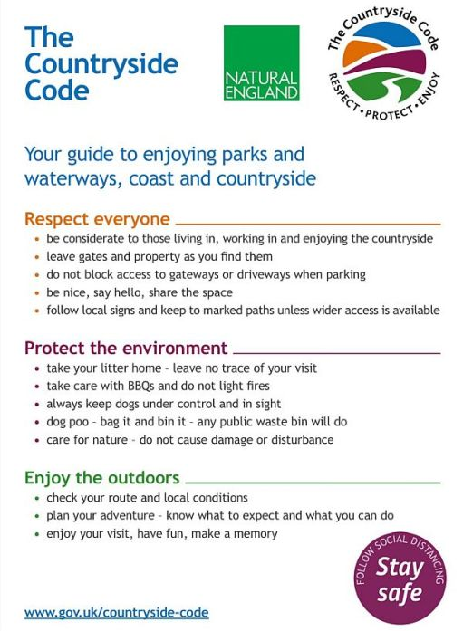 The Countryside Code.