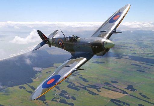 Spitfire in flight.