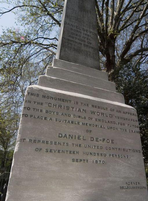 Daniel Defoe Bunhill Fields.