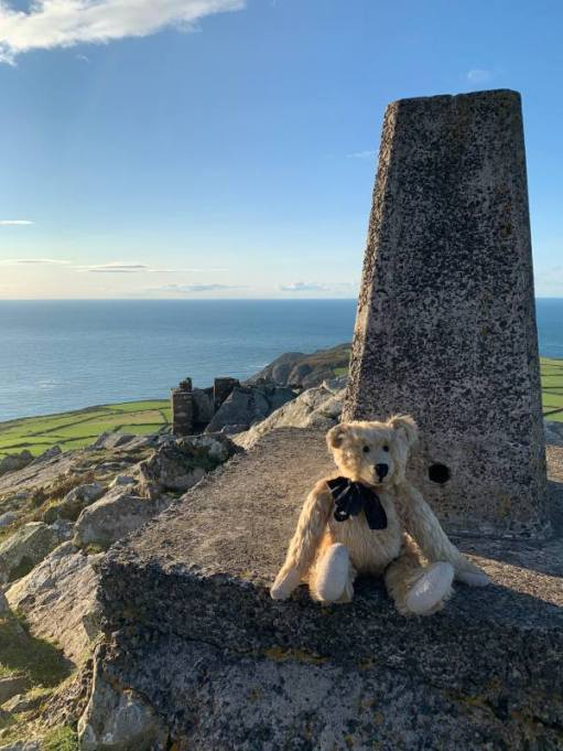 Bertie on the Trig Point.