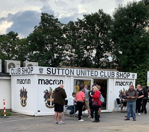 The Sutton United Club Shop.