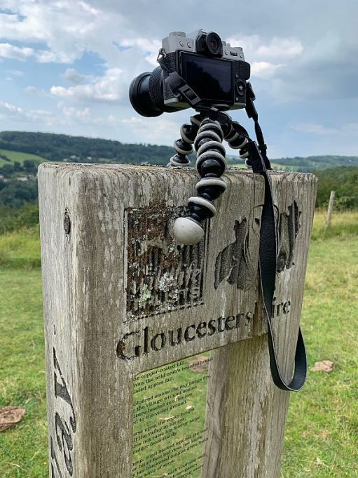 Bobby's camera sat on the top of the Laurie Lee Poetry post using a GorrillaPod.