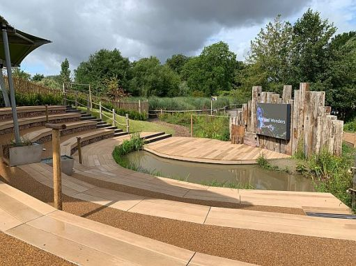 The new open air theatre at Slimbridge.