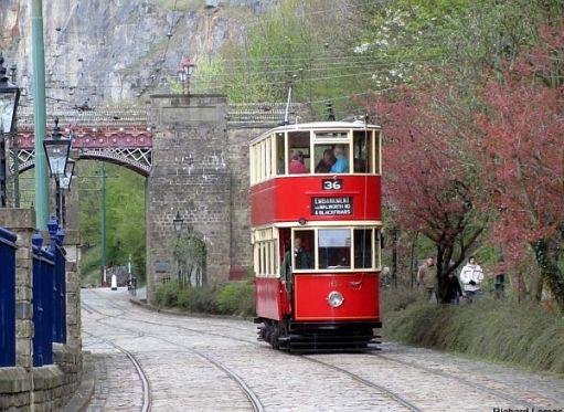 London tram 1622 at Crich museum.