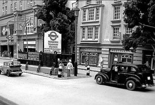 Entrance to Holborn Tram Station in Kingsway.