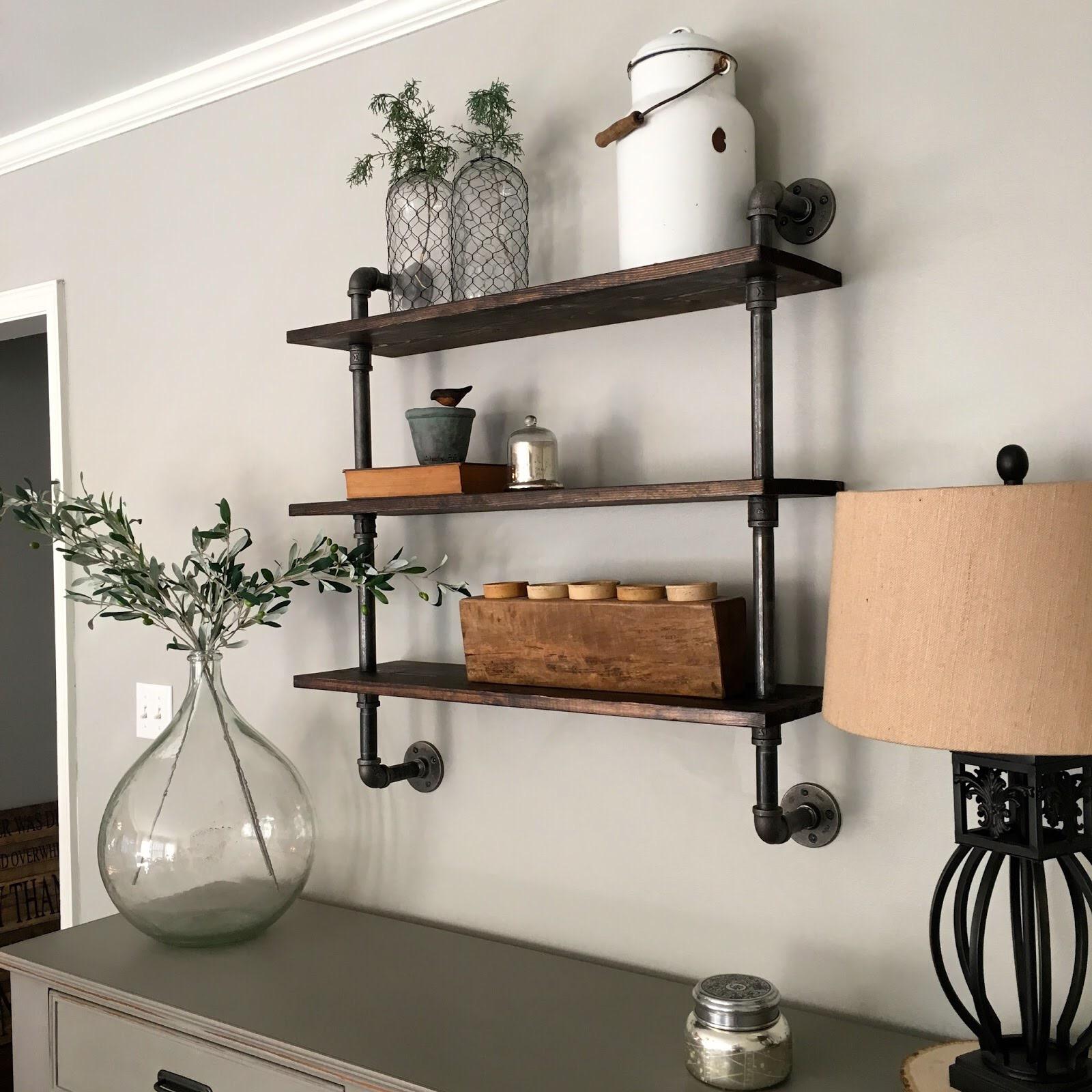 DIY Pipe Shelving  Mindfully Gray