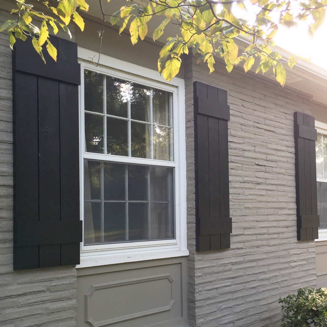 Diy Outdoor Shutters Mindfully Gray