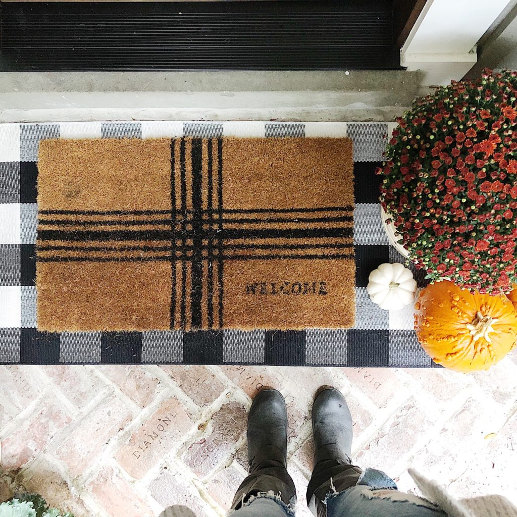 Layered Front Doormats Mindfully Gray