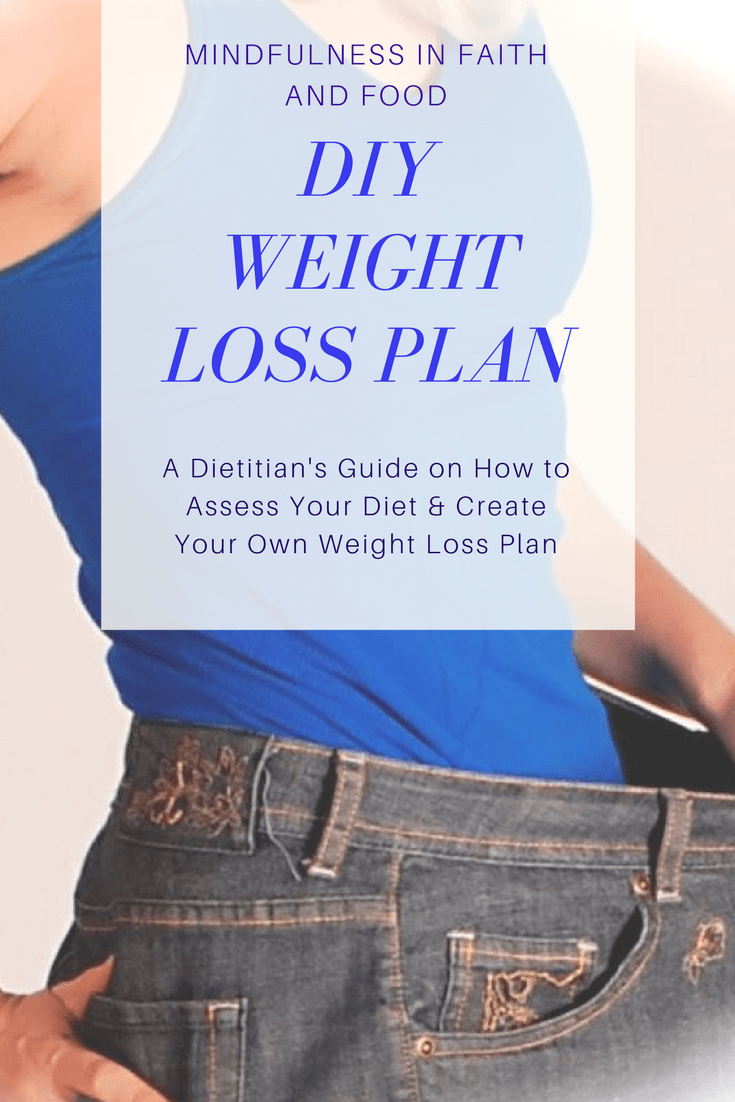 Create how my own diet plan to