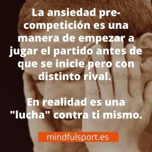 ansiedad pre competición