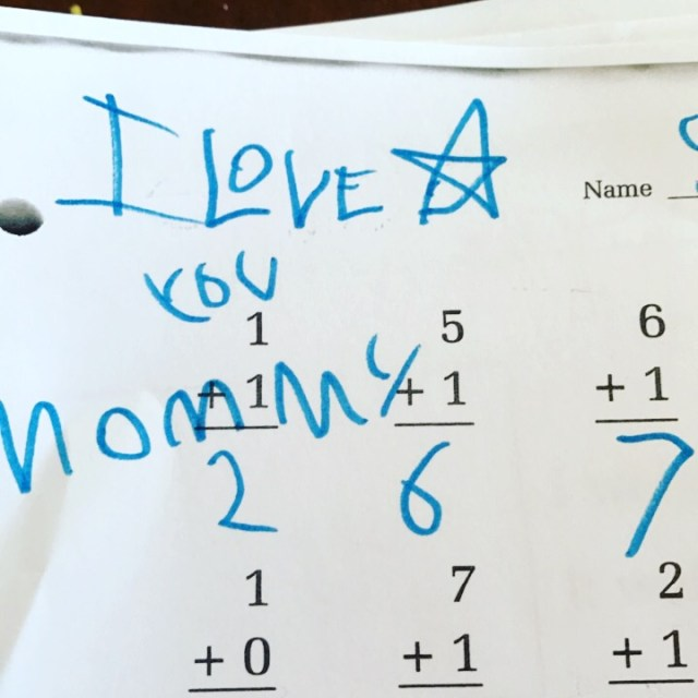 favorite moments - love notes in math