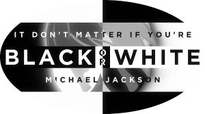 black and white mind map Michael Jackson