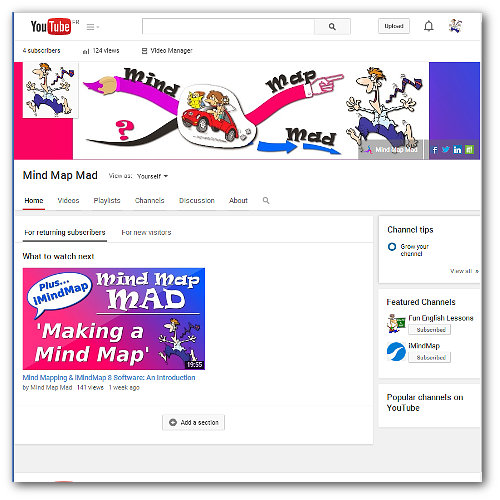Mind Map Mad YouTube Page