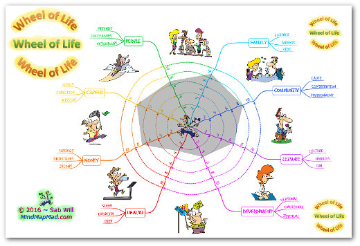 """wheel of life coaching tool"" polygon version"